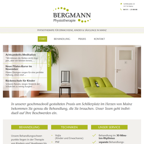 Bergmann Physio Website