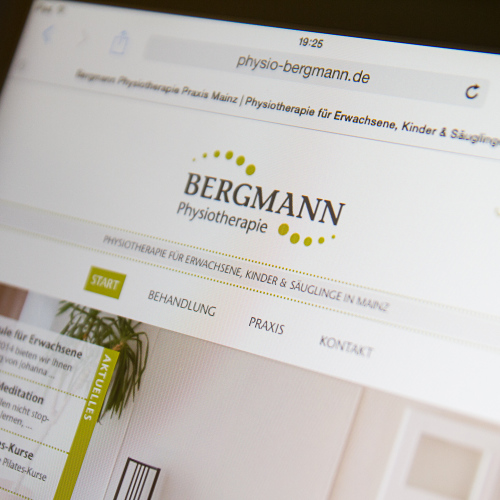Bergmann Physio Website Tablet