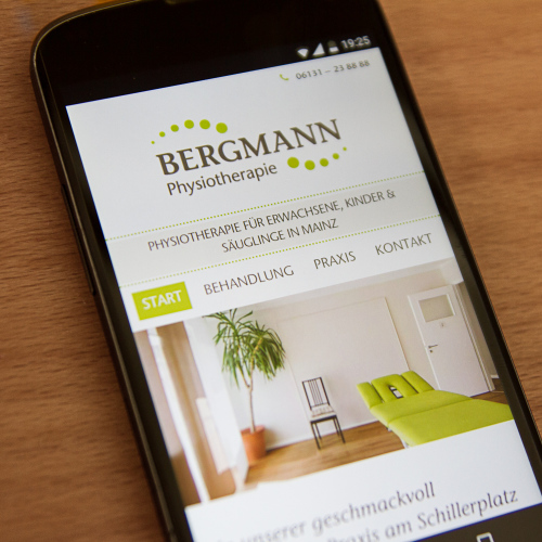 Bergmann Physio Website Smartphone