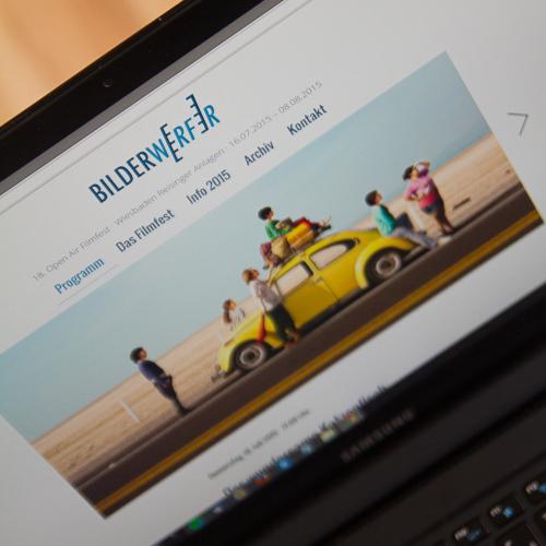 Bilderwerfer Webdesign Desktop