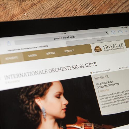 Pro Arte Webdesign Tablet