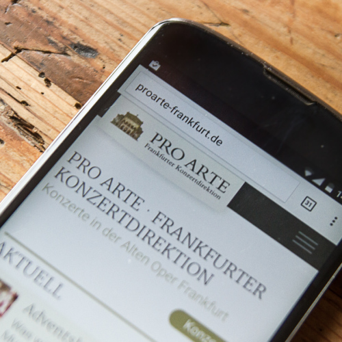 Pro Arte Webdesign Mobile Smartphone