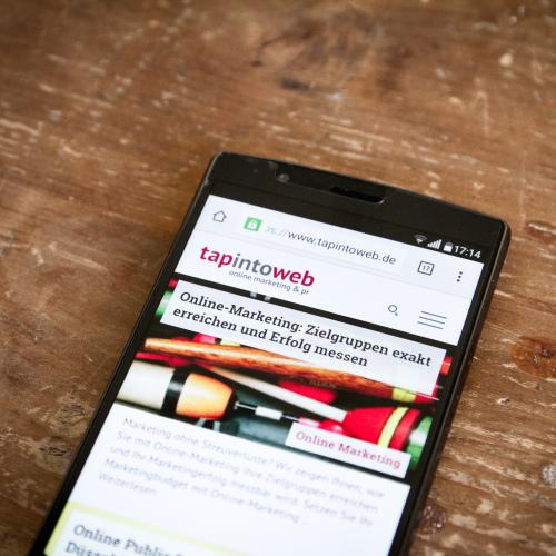 tapintoweb Screenshot Smartphone